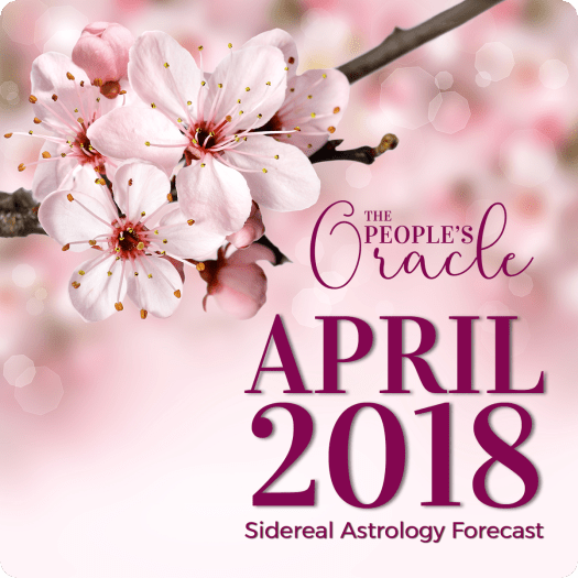 Spring cherry blossoms in full bloom for the April 2018 Sidereal Astrology Forecast