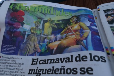 Images from San Miguel's Carnival