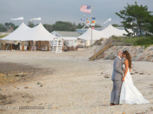 Beachfront wedding on Cape Cod