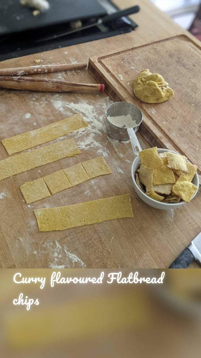 Curry flavoured Flatbread chips