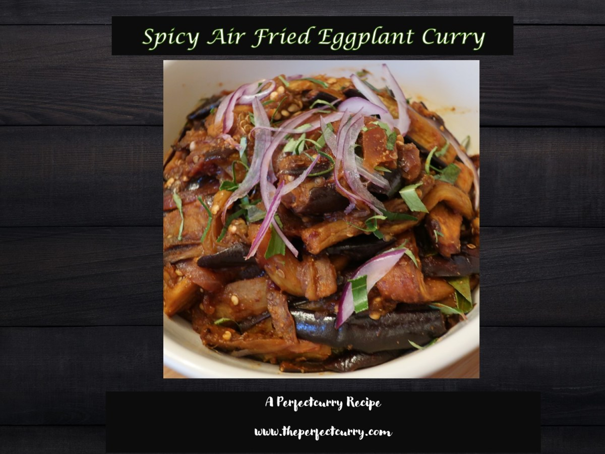 Title card of the Eggplant curry recipe