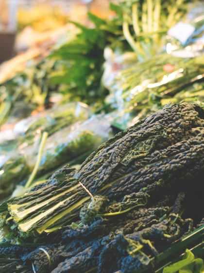 close up of vegetables in market