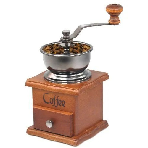 TRIXES Coffee Bean Spice Vintage Style hand grinder Wooden Kitchen Accessories