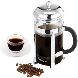 VonShef 8 Glass French Press Cafetiere Coffee Maker
