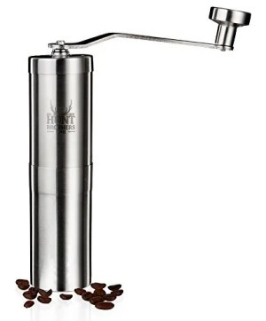 Hunt Brothers Coffee Grinder and beans