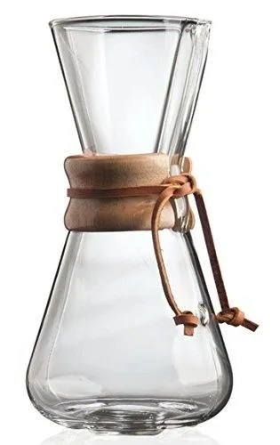 Chemex 3-Cup Wood Neck Coffee Maker