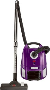 BISSELL Zing Lightweight, Bagged Canister Vacuum, Purple, 2154A