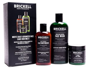 Brickell Men's Daily Advanced Face Care Routine II, Activated Charcoal Facial Cleanser, Face Scrub, Face Moisturizer Lotion, Natural and Organic, Scented