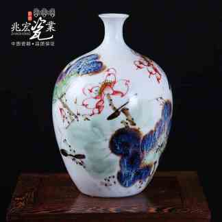 Custom inscription Jingdezhen ceramics hand-painted blue and white living room decoration decoration bottle bearing Home Furnish