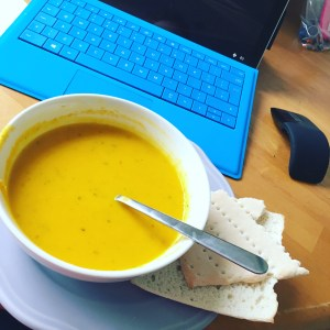Soup At The Office Working From Home