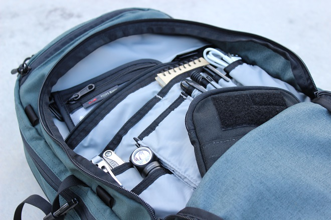 Alpha One Niner EVADE admin compartment, go ruck tool pouch leatherman charge nitecore