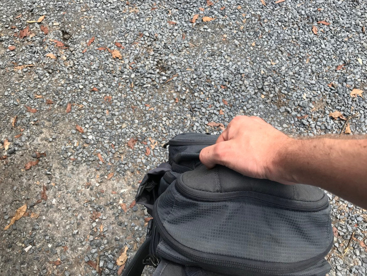 Vertx EDC Ready Pack Review Grab Handle