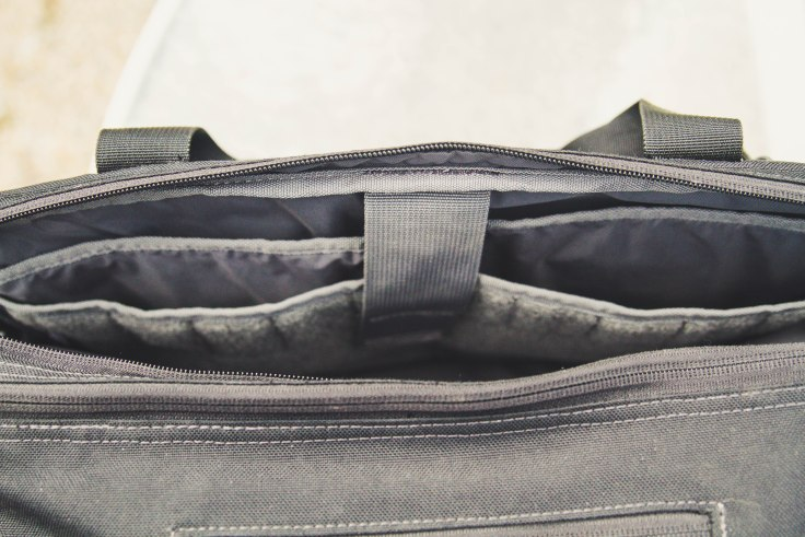 First Tactical Executive Briefcase laptop compartment closed