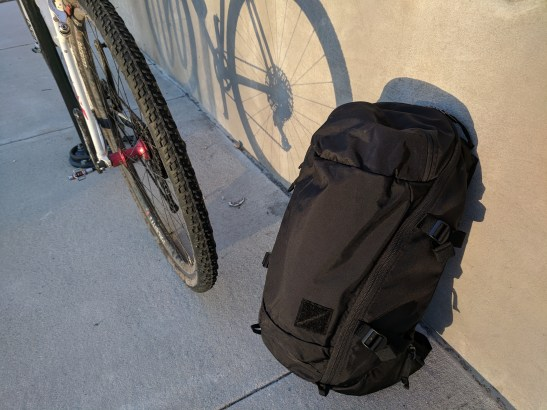 EVERGOODS MPL 30 backpack side profile shot
