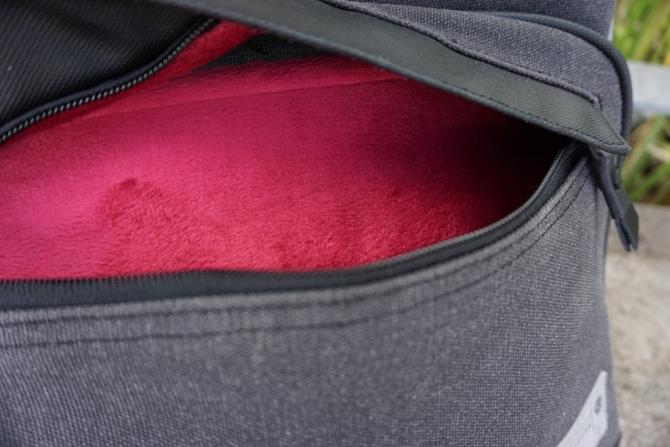 Hex Supply Signal backpack review tablet pocket fleece lining interior