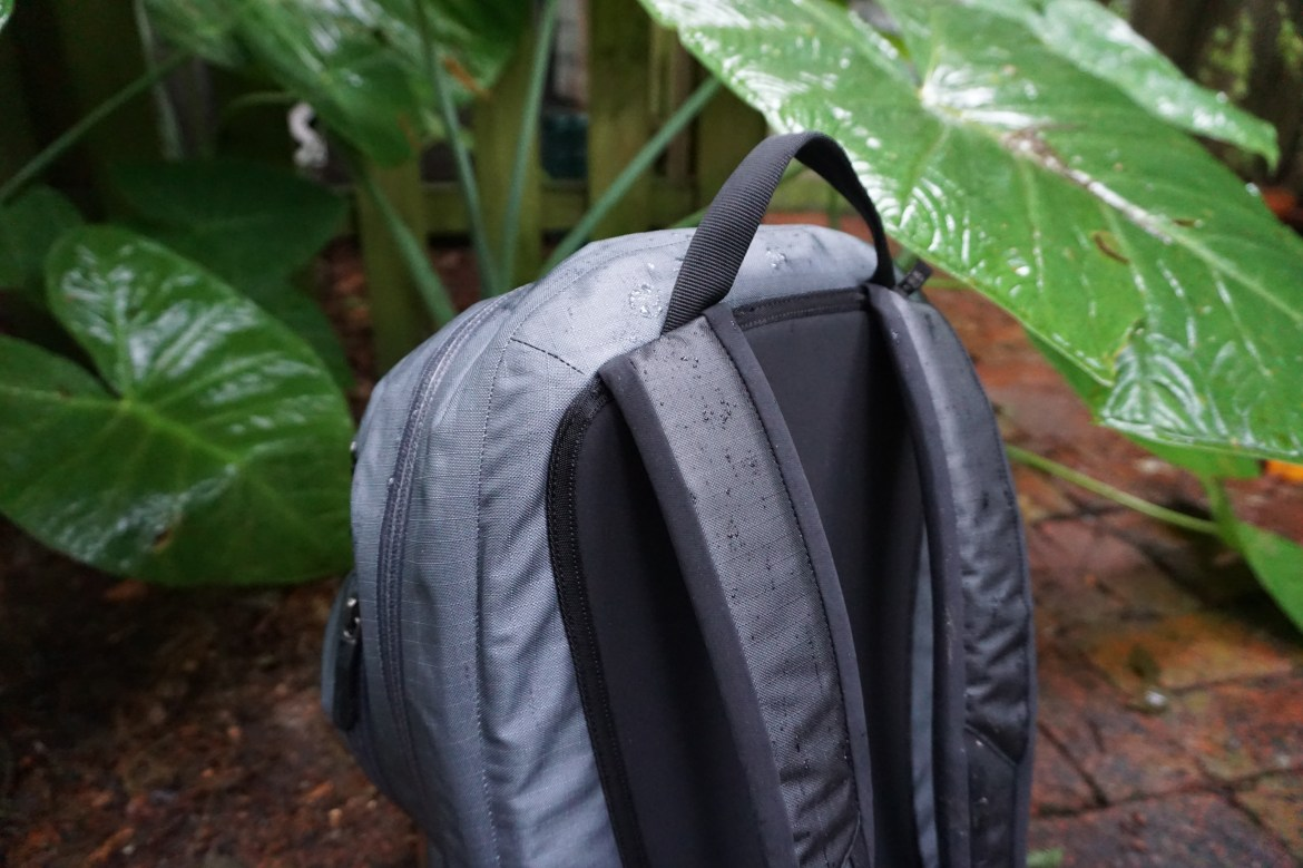 Arc'teryx granville zip 16 backpack review rear view straps and grab handle