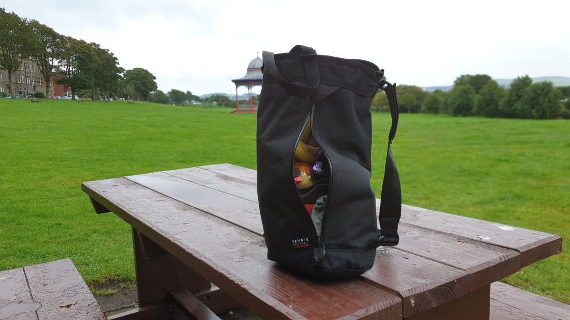 Remote Equipment bravo 18 edc bag review side zip access weather resistant waterproof
