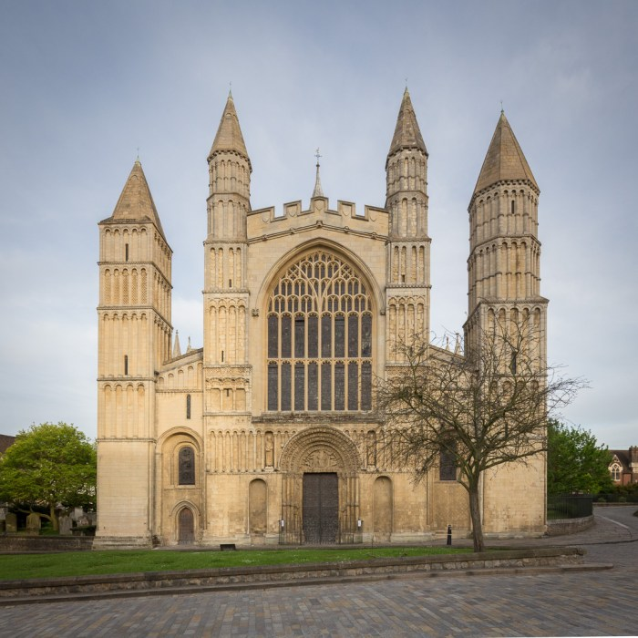 Rochester Cathedral, West front. Built 1079–1238