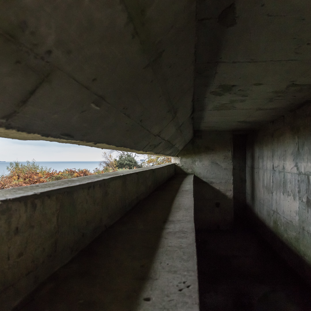 Fort Henry WW2 Observation Bunker interior, Studland, Dorset.