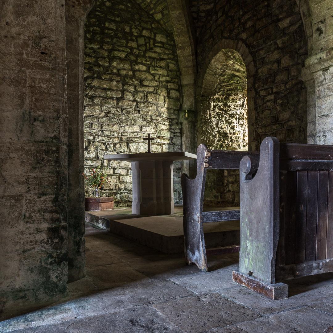 St. Aldhelm's Chapel, Interior, Dorset.