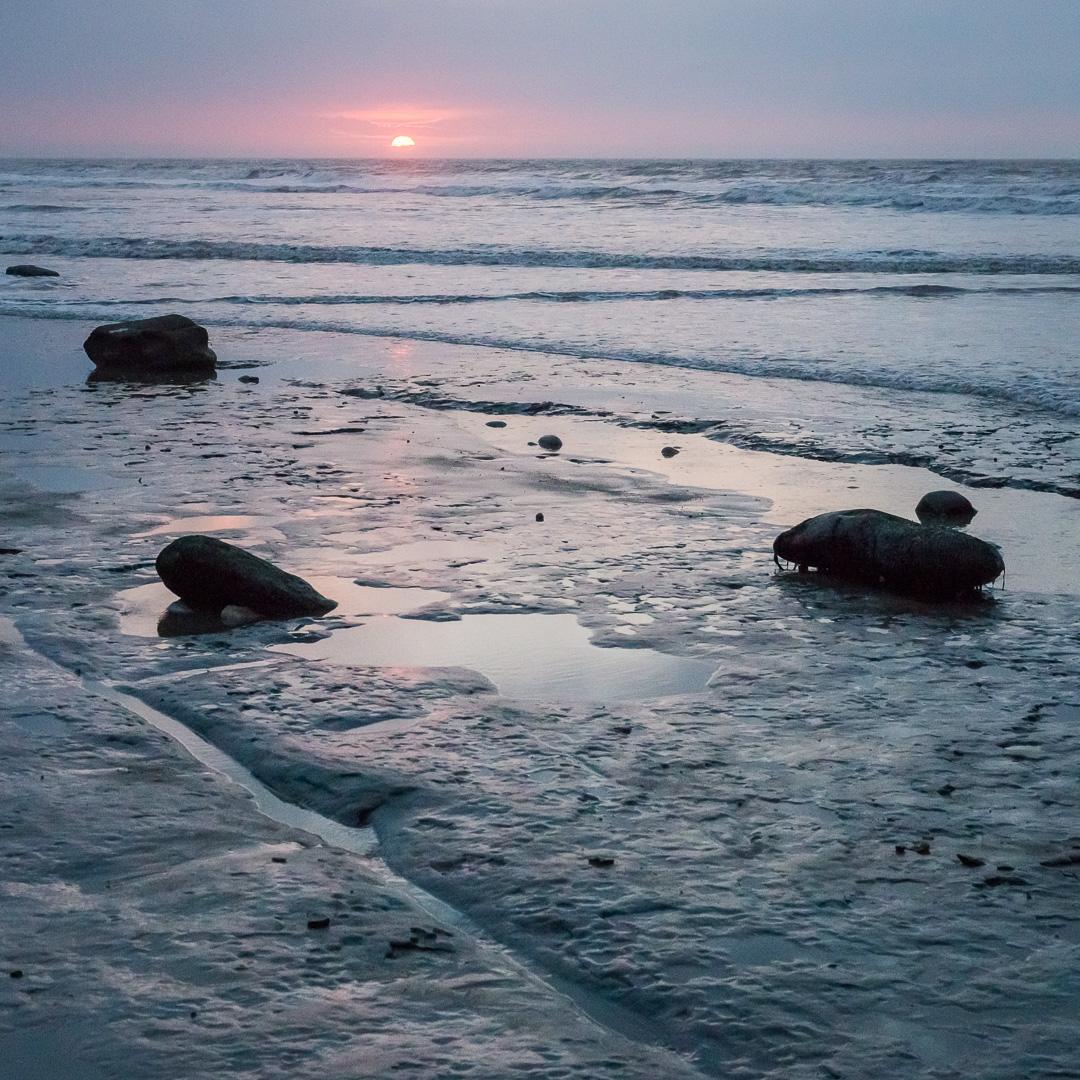 Sunrise at Bar Ledges, Charmouth, Dorset.
