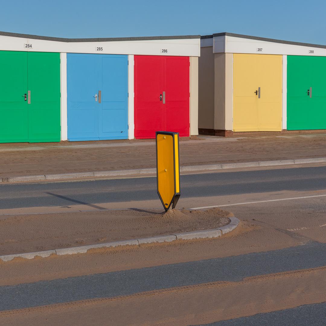Colour coding (Beach Huts), Exmouth, Devon.