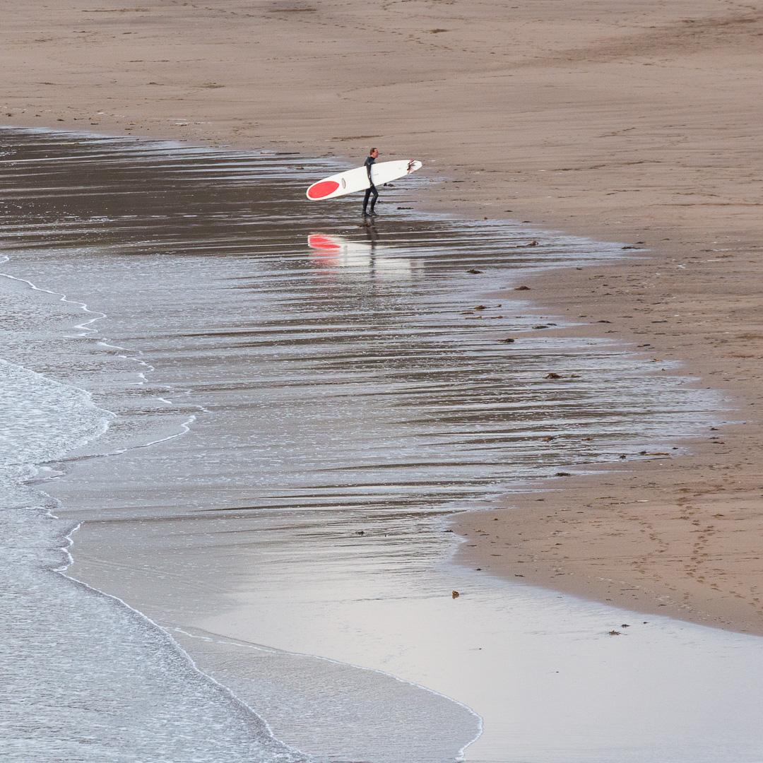 Surfer, Bantham Beach, Devon.