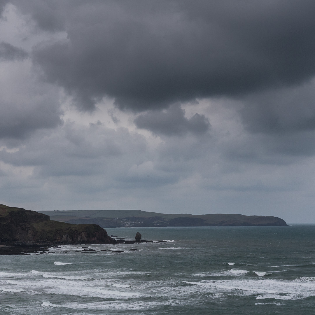 Stormy Skies above Long Stone & Bolt Tail, Devon.