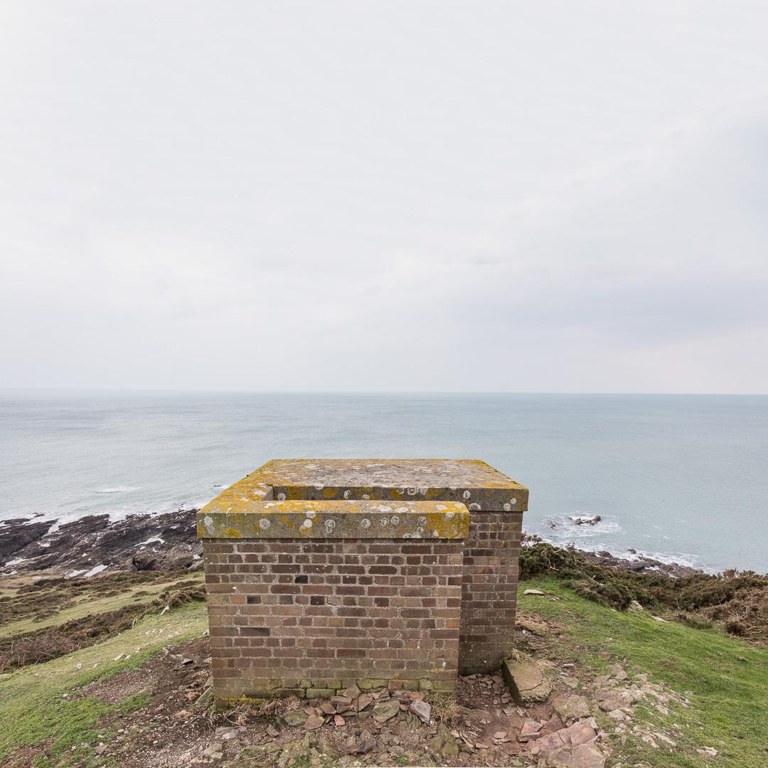 WWII lookout on Gara Point, Devon.