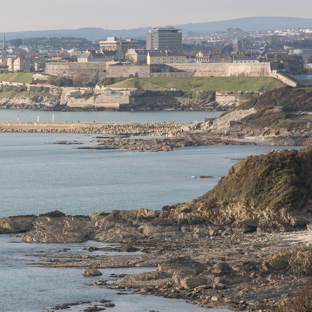 The Citadel and Mount Batten Breakwater, Plymouth, Devon.