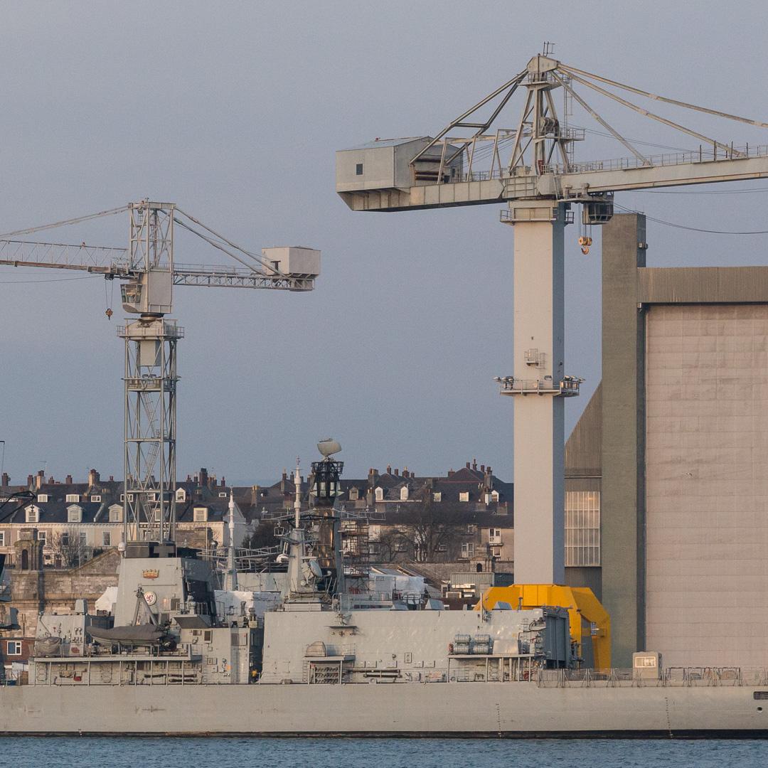 Frigate HMS Sutherland berthed at Her Majesty's Naval Base, Devonport.