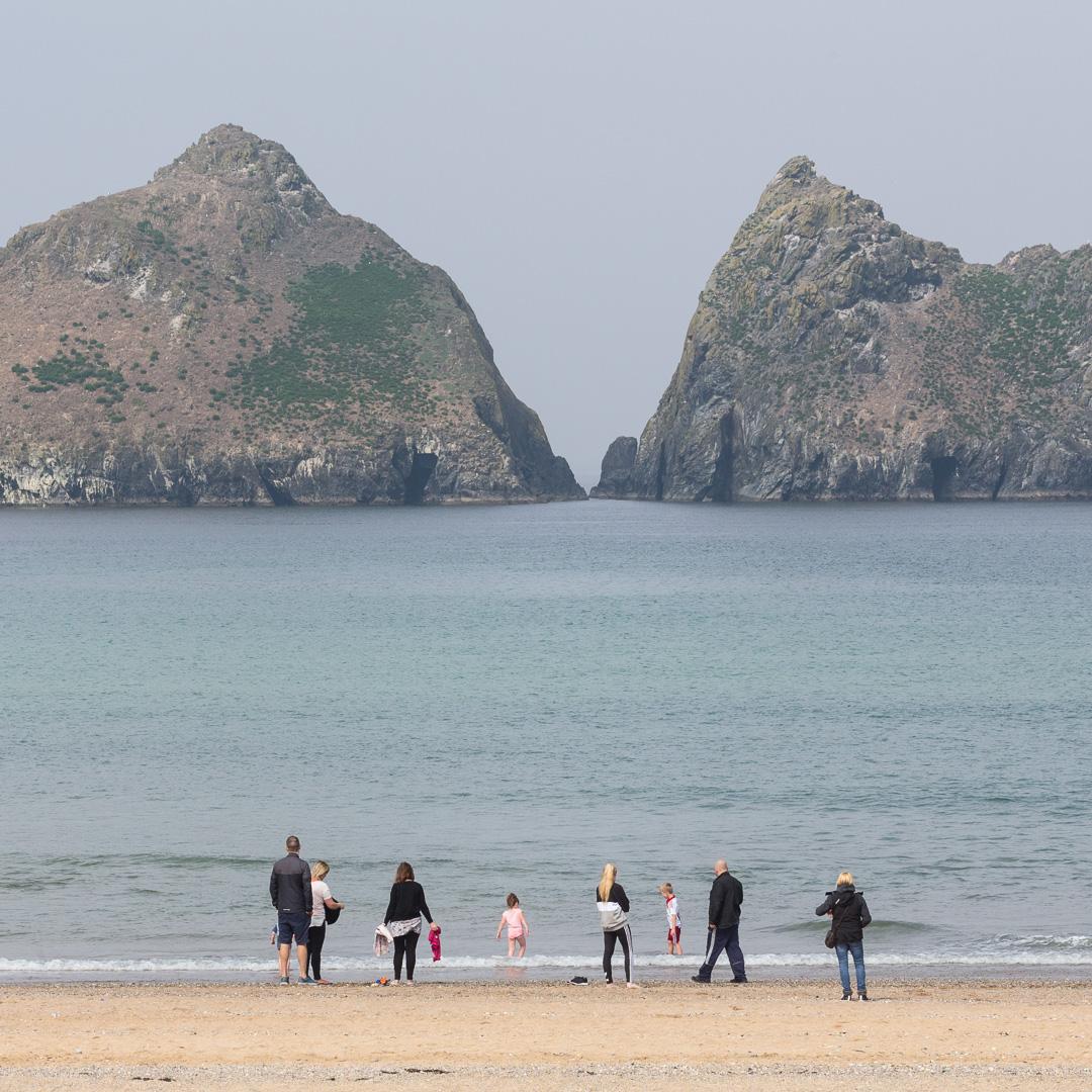 Gull Rocks from Holywell Bay, Cornwall.