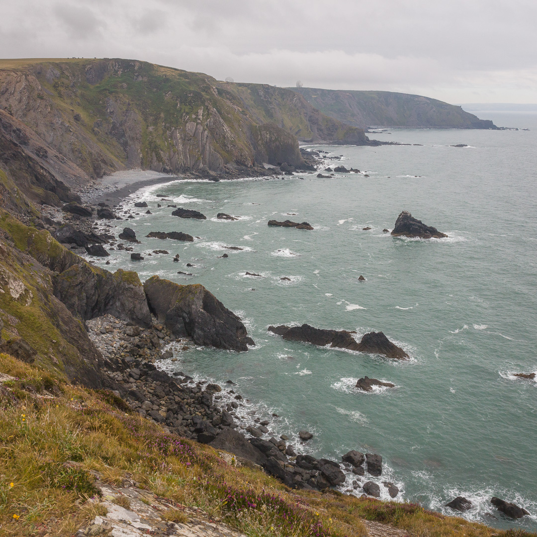 Lower Sharpnose Point from Higher Sharpnose Point, Cornwall.