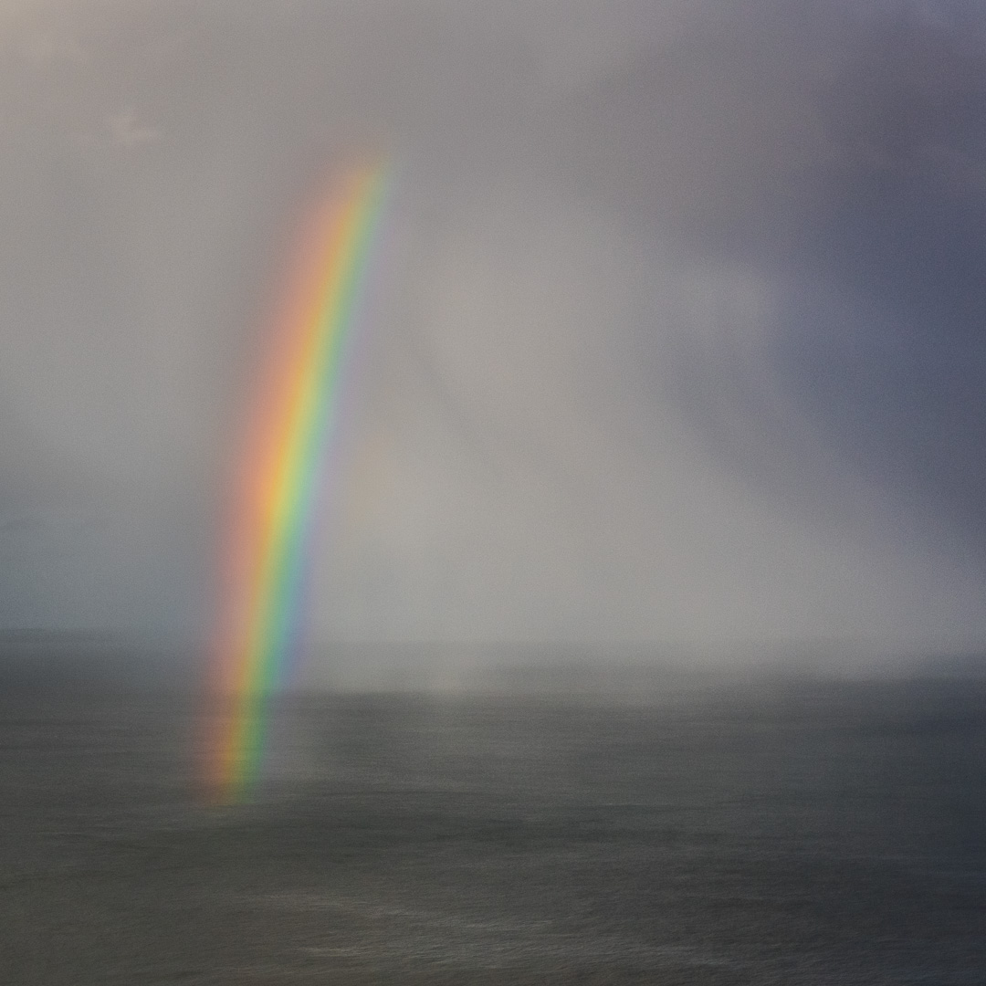 Rainbow above the Bristol Channel, from North Hill, Minehead, Somerset.