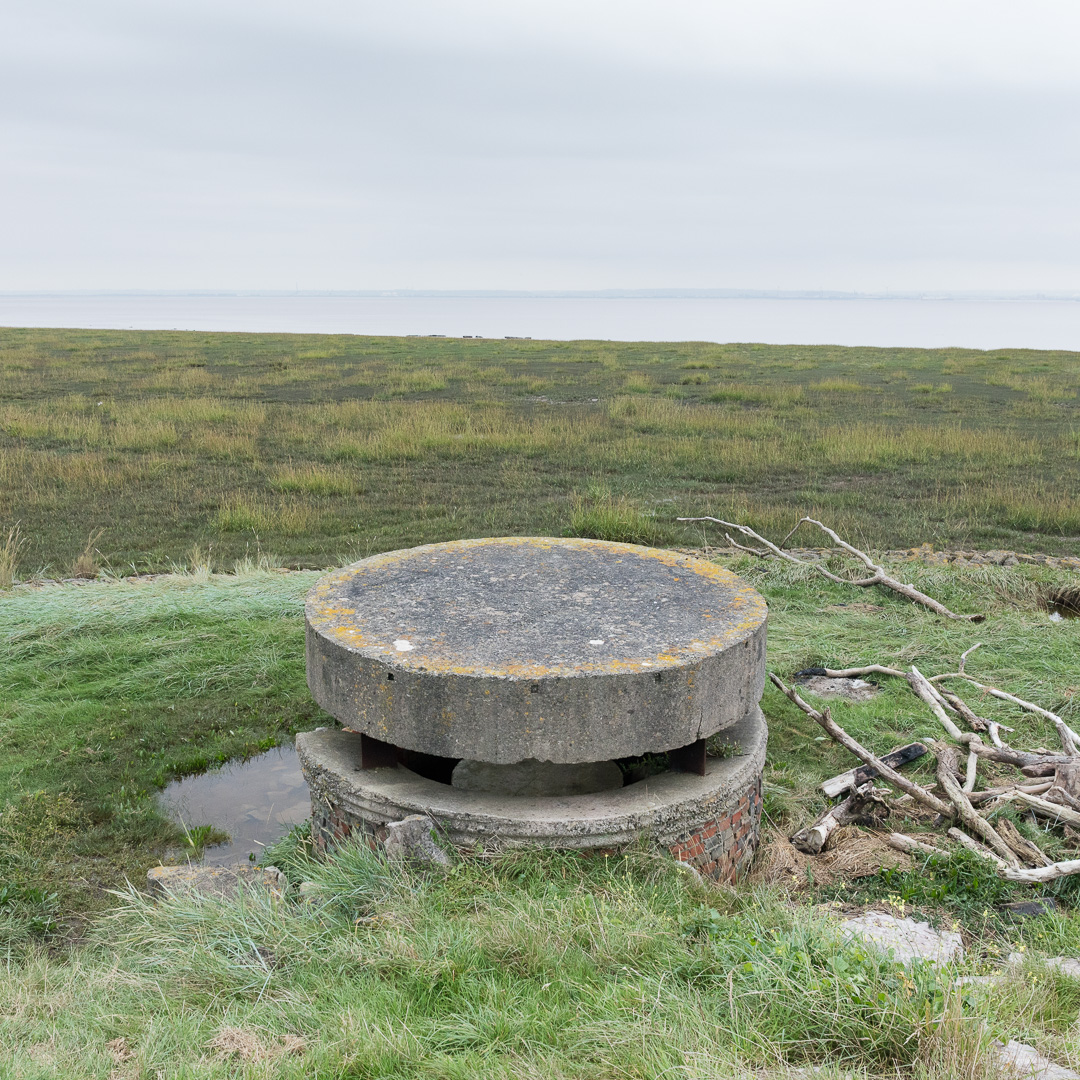 WW2 Coastal Observation Post overlooking the Severn, Magor, Gwent.