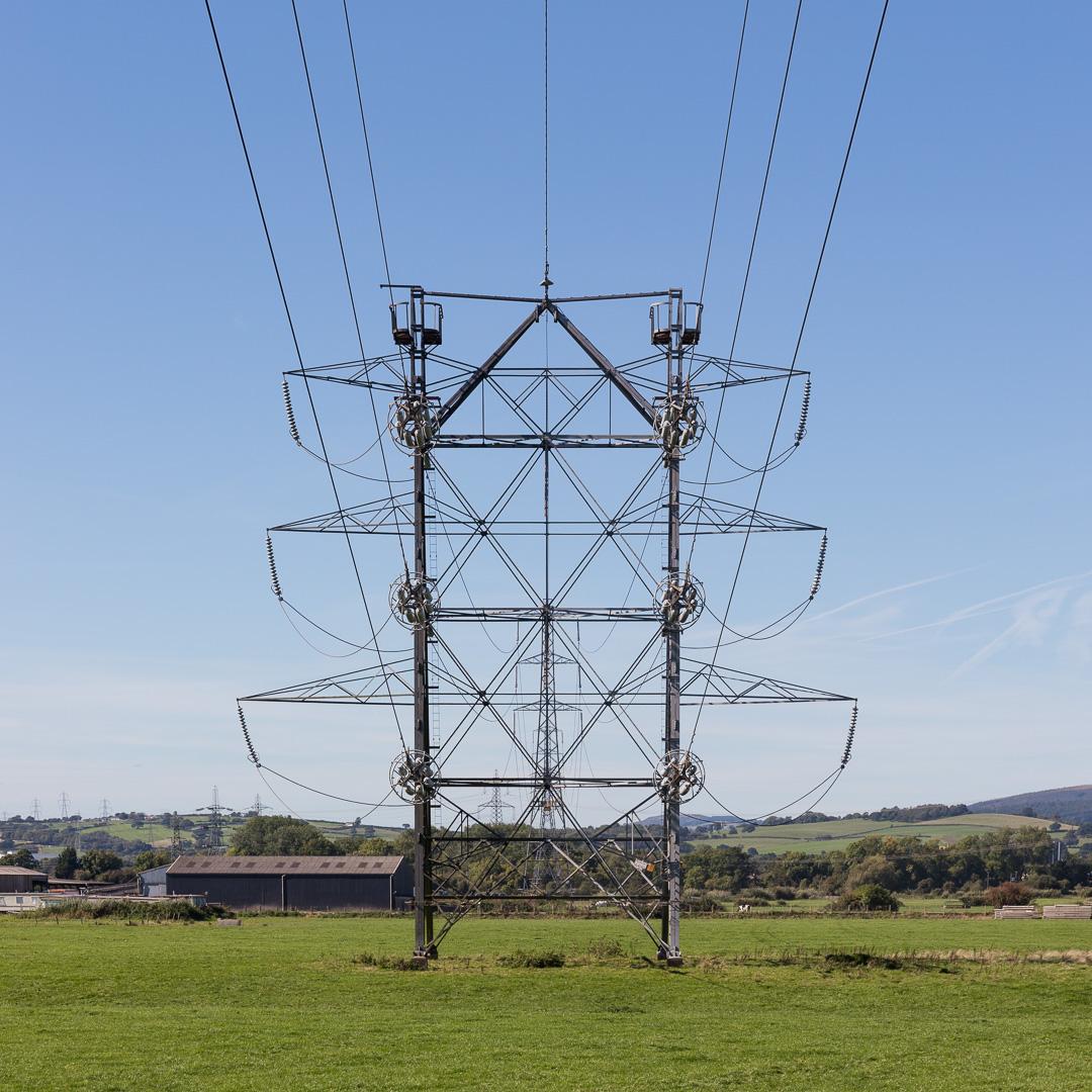 Height reducing pylon, Newport, Gwent.