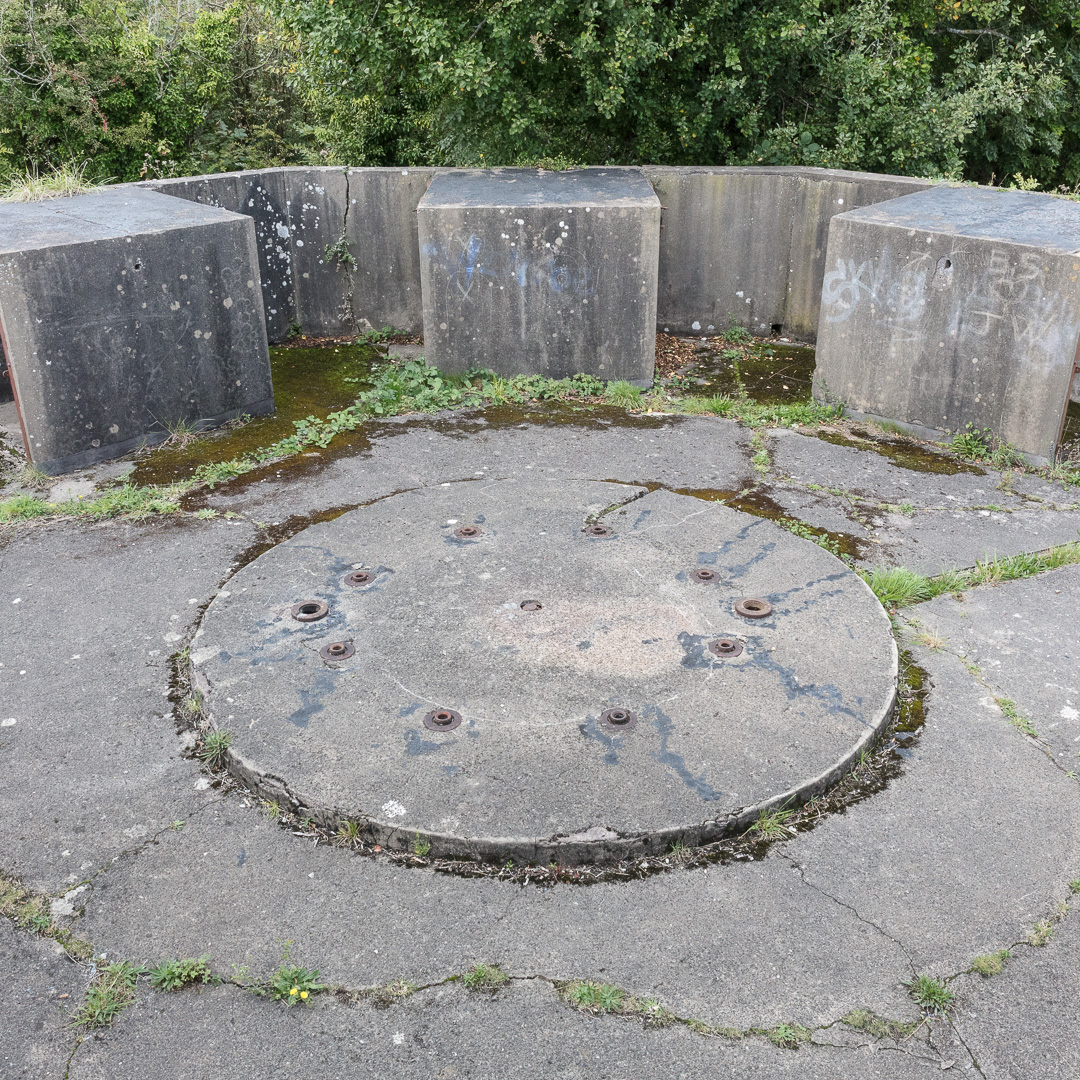 Lavernock Point WW2 anti-aircraft battery to protect the ports of the Severn Estuary, Glamorgan.