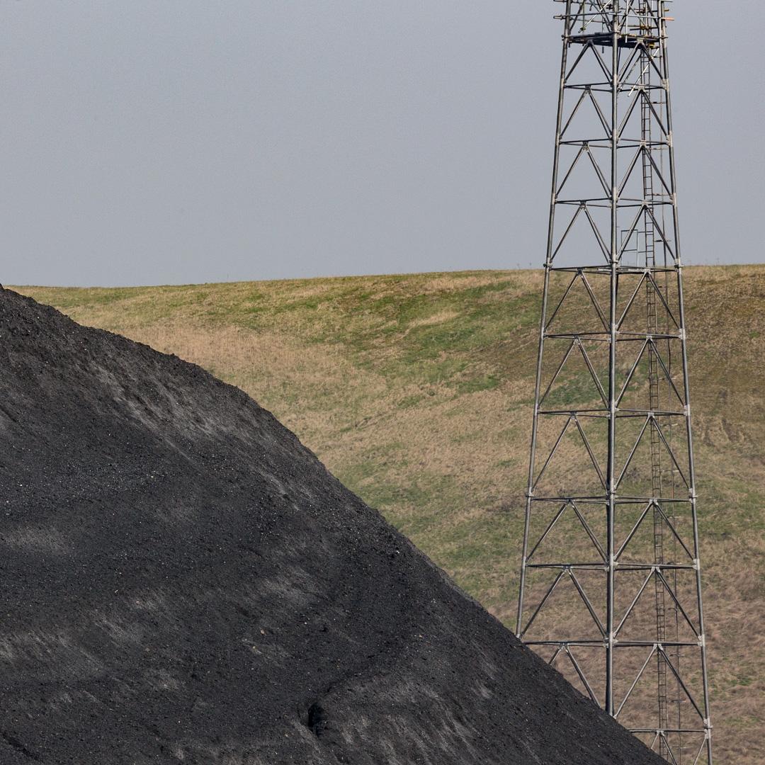 Coal stockpile, Aberthaw Power Station, Glamorgan.