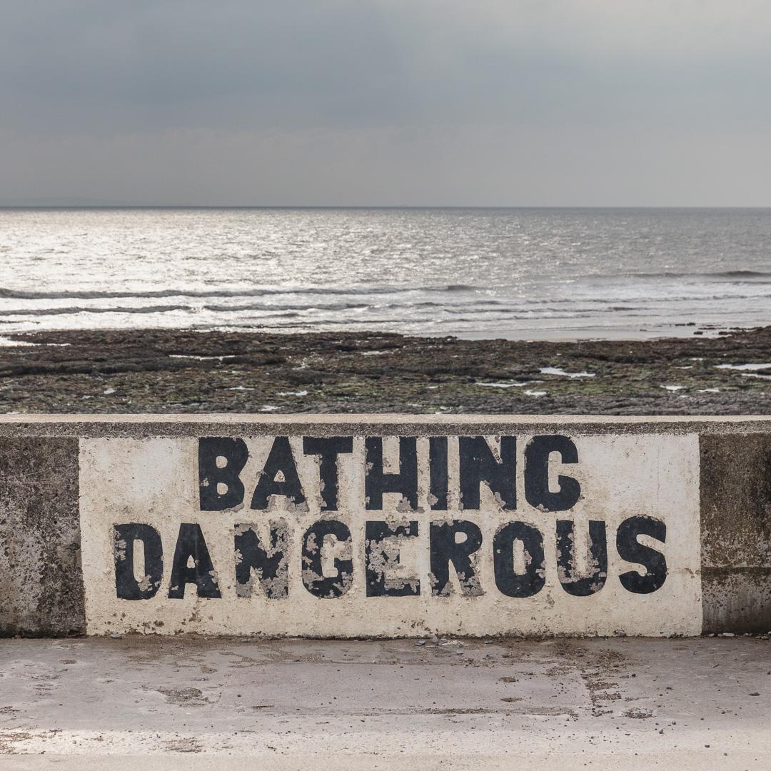 Bathing Dangerous, Porthcawl, Glamorgan.