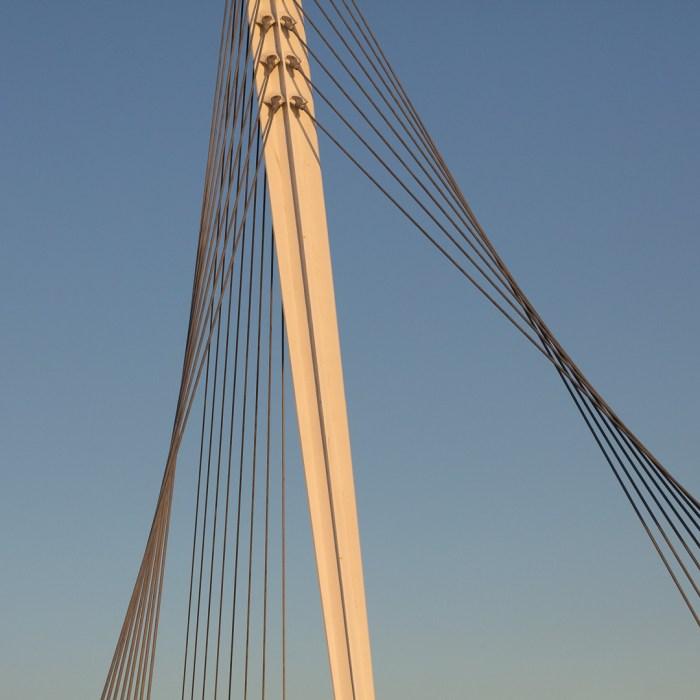Fabian Way Bridge, Port Tennant, Swansea. Architect: Studio Bednarski.