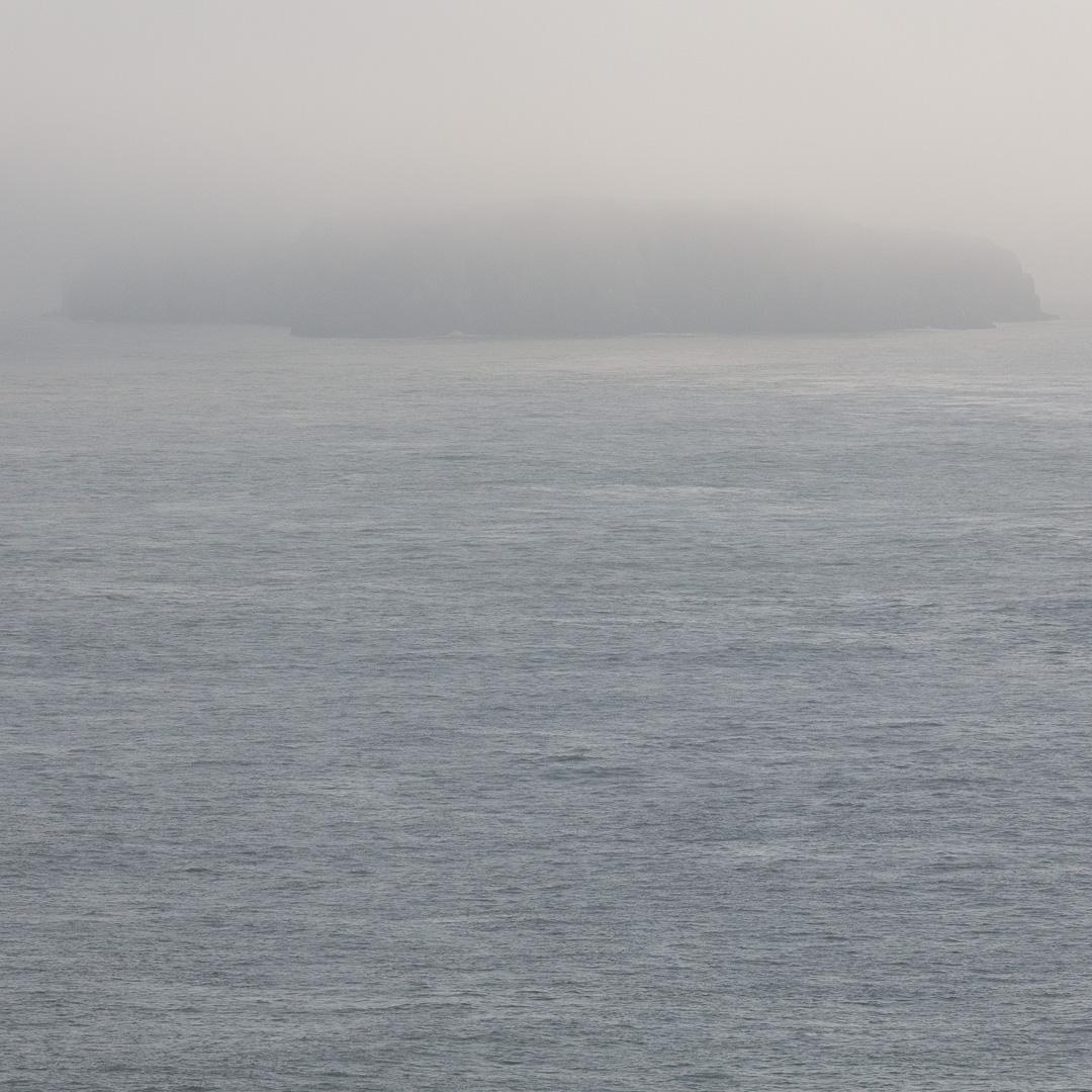 Last glimpse, Caldey Island, Dyfed.