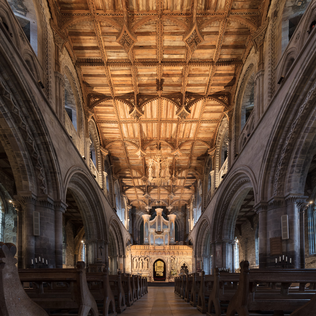 Nave of St David's Cathedral, Pembrokeshire.