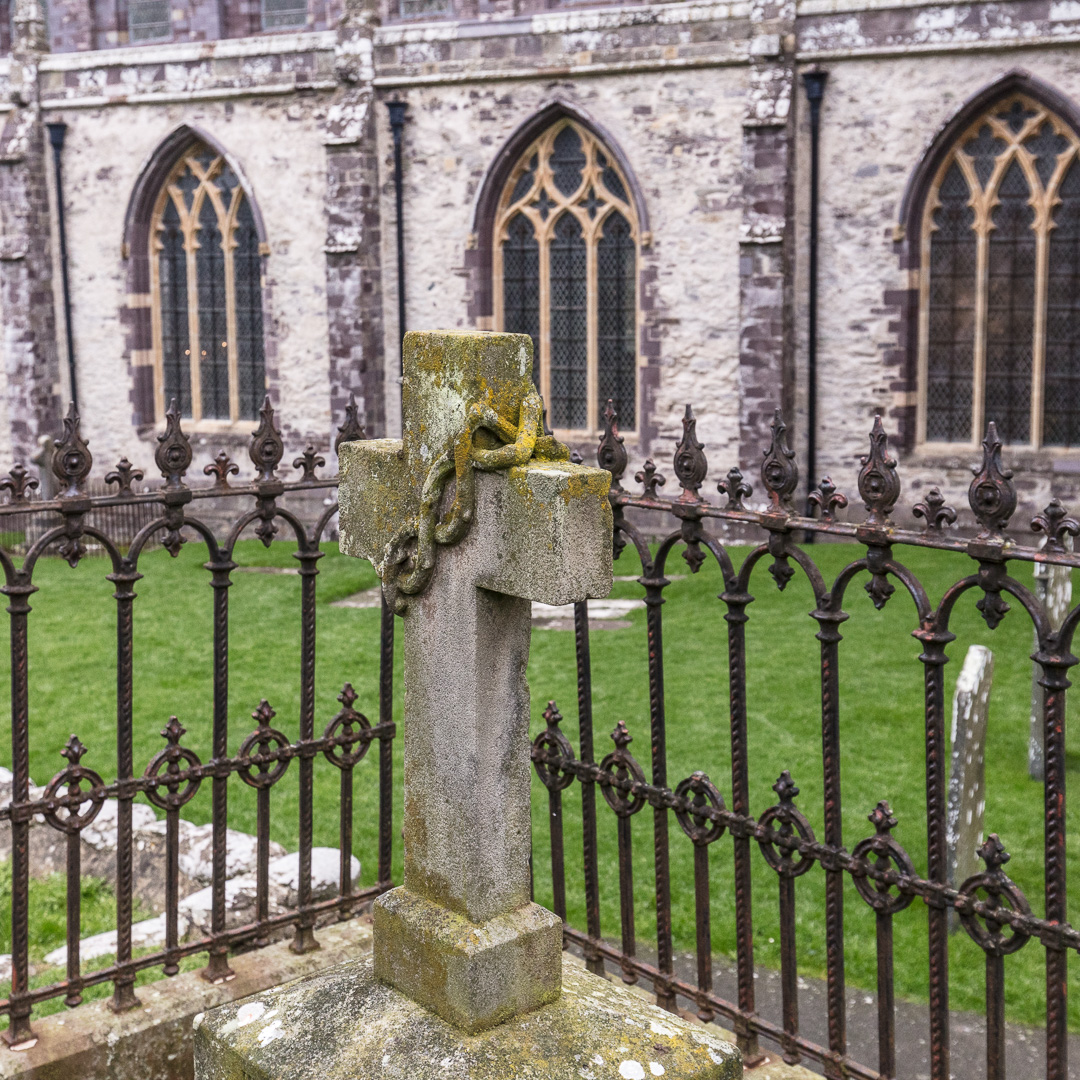 Tomb stone, St David's Cathedral, Pembrokeshire.