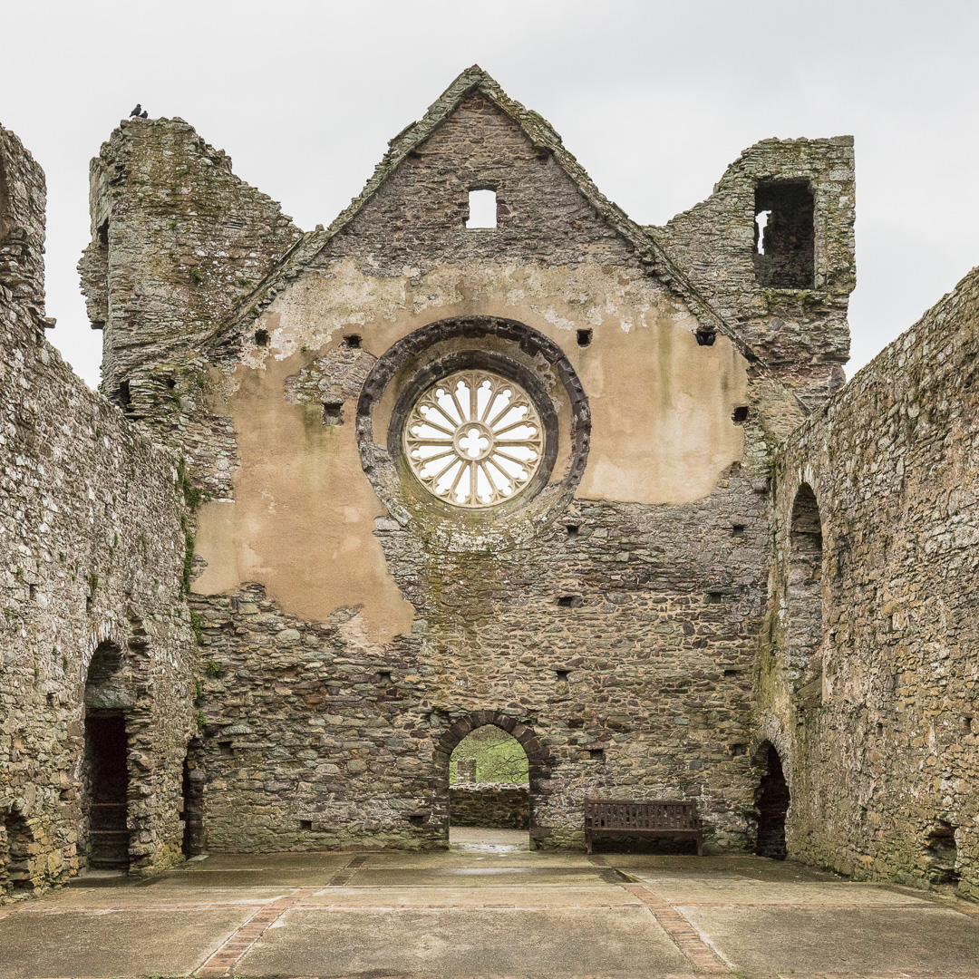 Great Hall of the Bishop's Palace, St David's, Pembrokeshire.