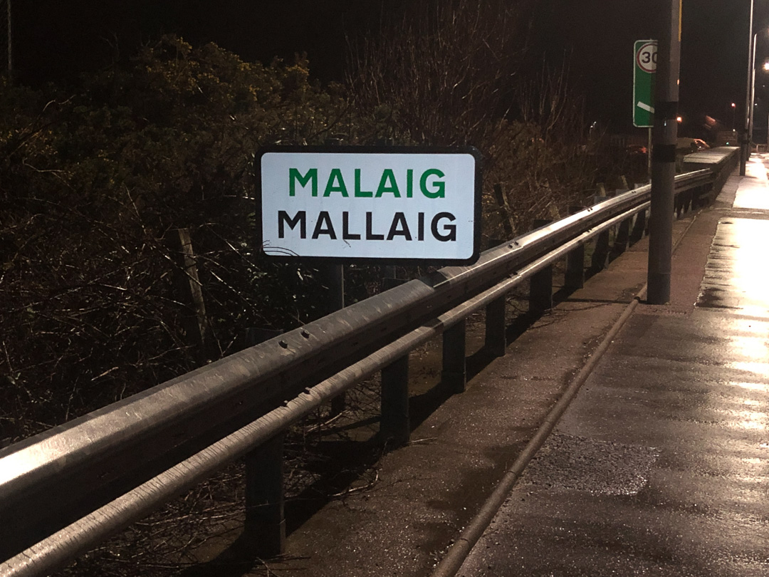 Wet and late into Mallaig, the last road I'll see for a while be