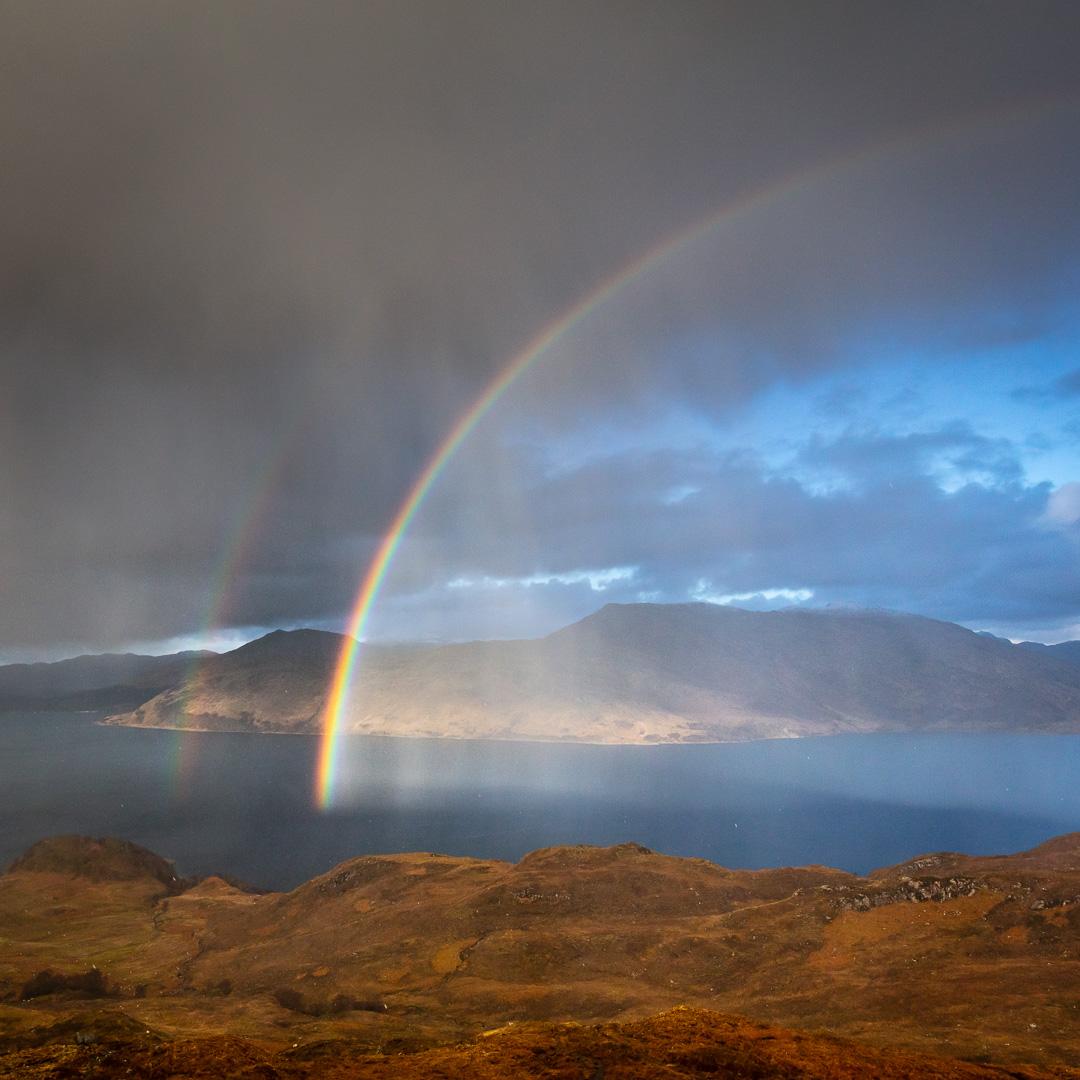 Hailbow over Loch Nevis and Knoydart II, North Morar, Scotland.