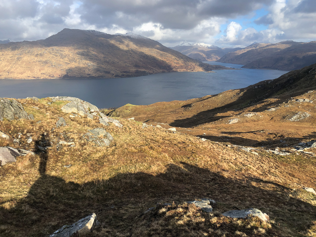 The first glimpse of Knoydart and Loch Nevis.