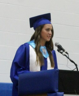 Bluejay Congress President Victoria Hegstrom thanked the teachers who helped educate the Class of 2016.