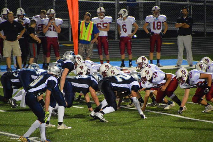 The Panorama defense yielded the first 17 points against South Hamilton Sept. 23, but then clamped down in the second half as the Panthers rallied for a 42-17 victory. Photo courtesy Debra Grunsted.
