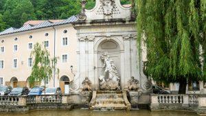 Neptune Fountain in Salzburg